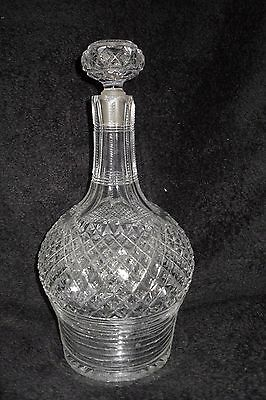 Vintage Lead Crystal Whisky Decanter
