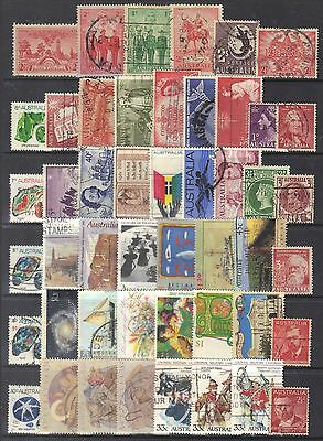 Australia page of stamps.