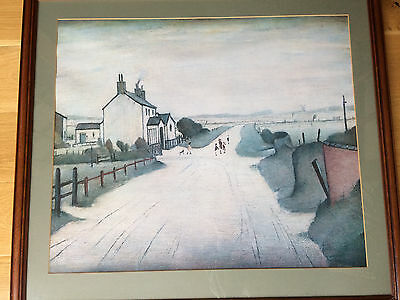 Framed picture (print with glass) A country road by Lowry