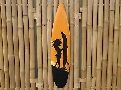 Wooden Hand Carved Painted TIKI SURFER Surfboard Mask Wall Plaque 100cm.....
