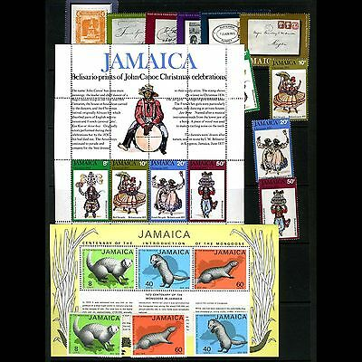 Jamaica Selection. 335-340, 365-368, 406-410. 15 Values. LHM (CA47)