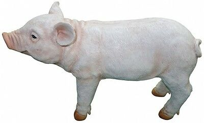 New Pig Statue For Lawn Garden Farm Animal Decorative Ornament Animals Country