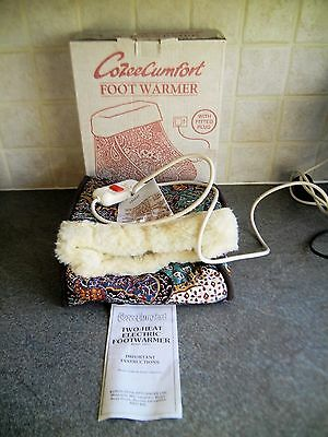 Cozee Cumfort Electric Foot Warmer (2 Heats & Overheat Safety Cut-out) ** EXC **
