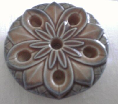 Blue And Brown Five Candle Holder  By Wade