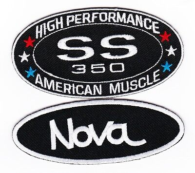 Chevy Ss 350 Nova Sew/iron On Patch Emblem Badge Embroidered Hot Rod Muscle Car