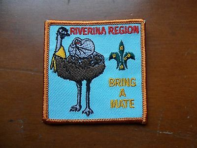 Riverina Region Bring A Mate  Embroidered Scout Cloth Badge