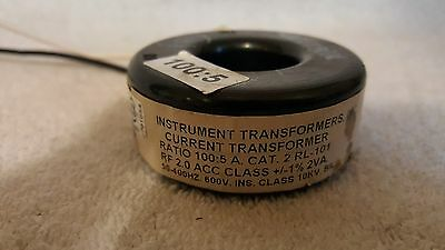 USED INSTRUMENT TRANSFORMERS CURRENT TRANSFORMER 2RL-101 Ratio 100:5