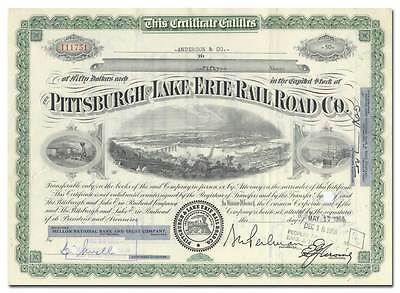 Pittsburgh and Lake Erie Rail Road Company Stock Certificate