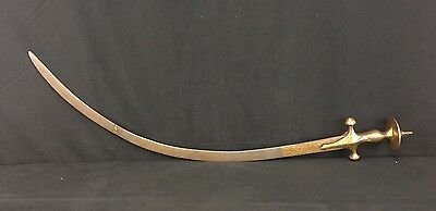 Very 18th Century Rare Antique Indo-Persian Sword With Fine Gold Work Details