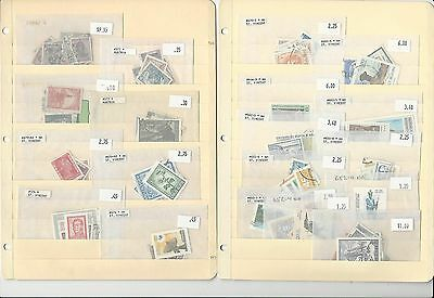 Argentina Unsorted Lot on 2 Stock Pages, Nice Collection to Sort Through