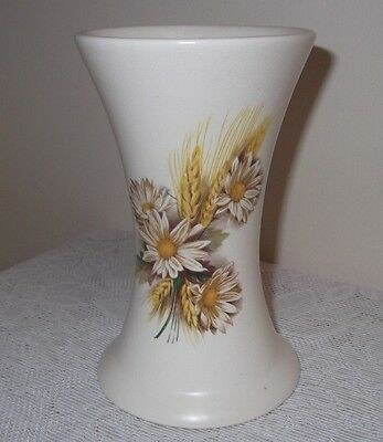 A Vintage Purbeck Ceramics Vase With Corn And Flowers Detail