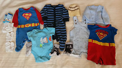 Bundle of baby boys clothes 0-3 months inc Next & M&S