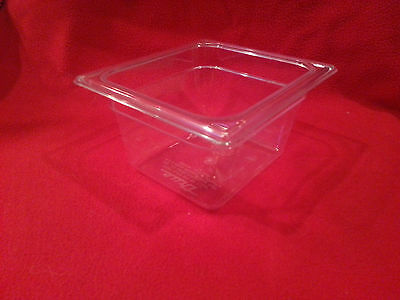 "Set of 16 New 1/6 X 4"" clear food service pans"