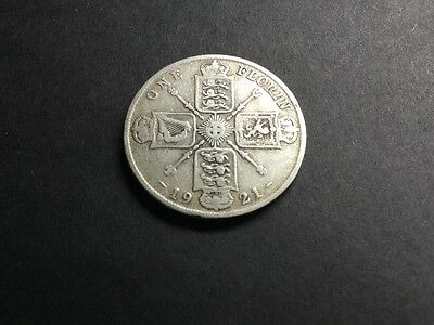 George V Silver Florin dated 1921
