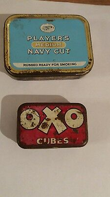 Vintage oxo cubes tin and tobacco
