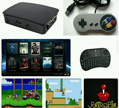 Retropie retro game system. Fully loaded with best consoles and kodi. UK STOCK