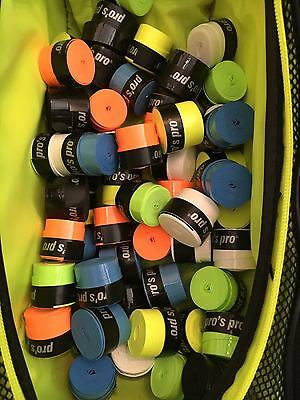 Pros Pro GTacky Tennis Racket OverGrips (Box of 10) Assorted Colours)