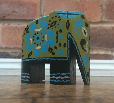 Decorative Hand painted Wooden Elephant