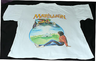 vintage 1986 Marillion WELCOME TO THE GARDEN PARTY t-shirt (XL) Fish