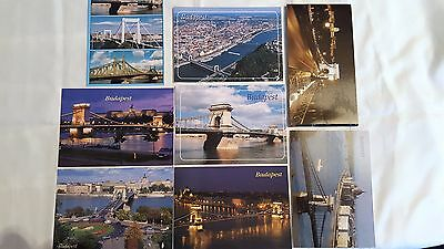 8 Postcards from Budapest NEW/UNUSED
