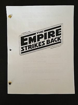 Star Wars Episode V: EMPIRE STRIKES BACK Screenplay GEORGE LUCAS 1979