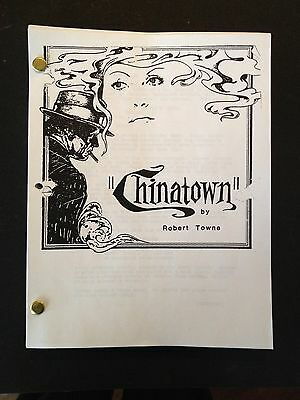 CHINATOWN Oscar Winning Screenplay by ROBERT TOWNE w/ POLANSKI & NICHOLSON