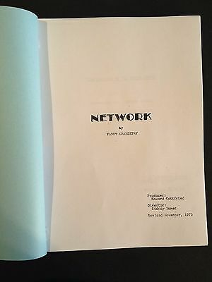 NETWORK Oscar Winning Screenplay w/ Robert Duvall, William Holden, Faye Dunaway