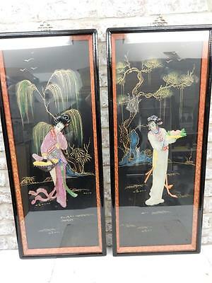 nice old decorative chinese oriental panels