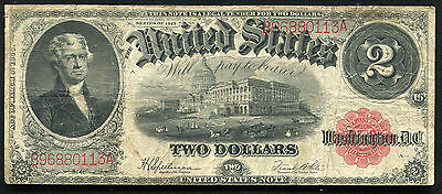 Fr. 60 1917 $2 Two Dollars Legal Tender United States Note Very Fine