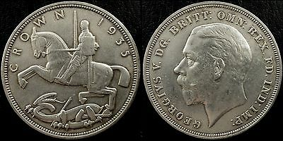 narkypoon's Near UNCIRCULATED 1935 George V Silver Jubilee 500 fine SILVER Crown