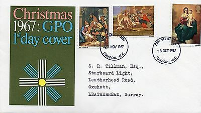 1967 Christmas Fdc From Collection 4B/22
