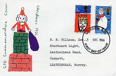 1966 Christmas Fdc From Collection 4B/23