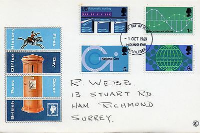 1969 British Post Office History Fdc From Collection 4B/24