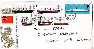 1969 British Ships Fdc From Collection 4B/25