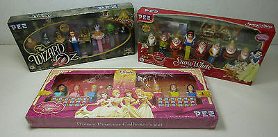 Lot of 3 Pez Disney Collectors Series Box Sets Princess Snow White Wizard of Oz
