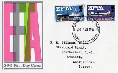1967 Efta Fdc From Collection 4B/26