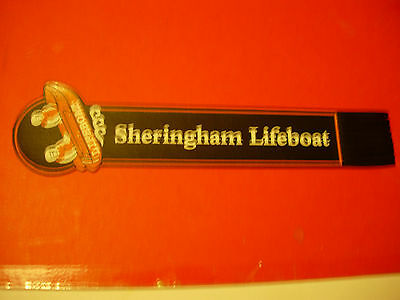 Leather Bookmark - Sheringham Lifeboat  - Pristine Condition