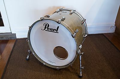 Pearl Reference 22x18 Bass Drum Granite Sparkle with Heavy Duty Bag As New