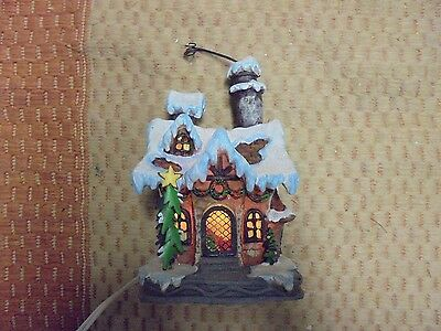 """9"""" Adorable Christmas Holiday Lighted Cottage House """"Bulb not included"""""""
