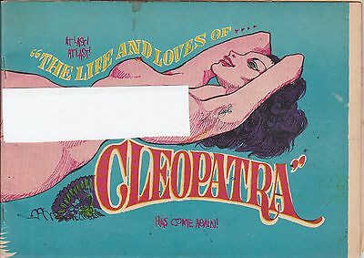 The Life And Loves Of Cleopatra (1969) Silver Age Underground Comix