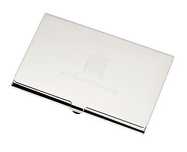 House of Commons Business Card Holder - Nickel Plated - in Original Box
