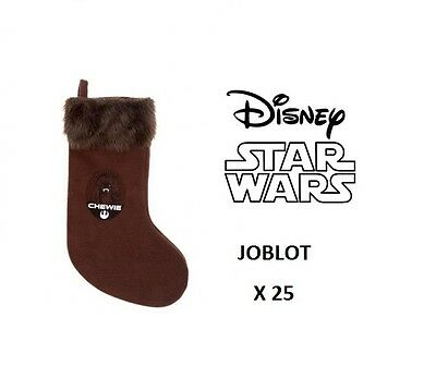 Joblot 25 Official Disney Star Wars Chewbacca Stockings + Free Uk Delivery