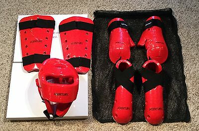 7 Pc Century P2 Powerline 2.0 Sparring Gear Set Martial Arts Karate Tae Kwon Do