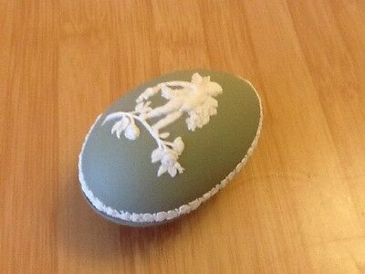 Wedgwood green and white egg trinket box