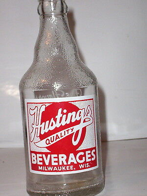 """hastings Beverages""-Milwaukee, Wisconsin 12 Ounce Soda Bottle"