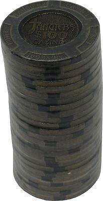 Poker Chips (25) $100 Tangiers 16 g Brass insert Clay Composite FREE SHIPPING*