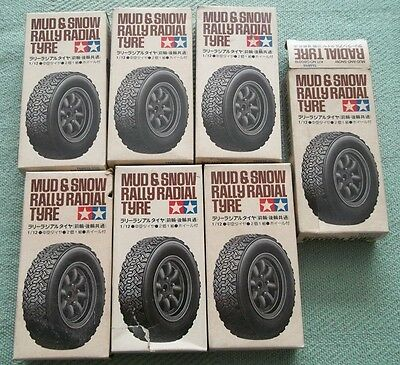 Mud and Snow Radial Tire *-* Tamiya 1/12 Replacement