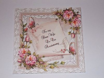 Handmade greeting card d humorous happy anniversary with an older