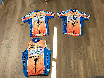 Biemme Team cycling jerseys x 2, and gilet - wind vest - Colnago