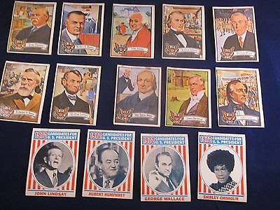 Lot of 14 Topps 1972 US Presidents Trading Cards Priced to Sell